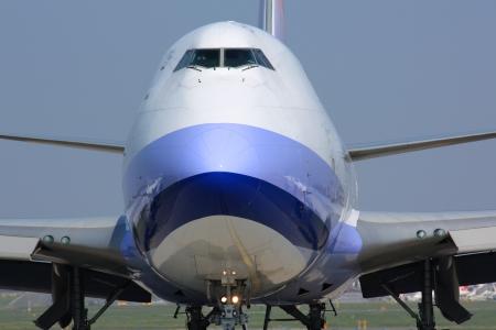 Detail of cargo plane nose photo