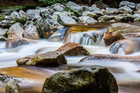 krkonose: Mumlava river near Harrachov in Czech republic