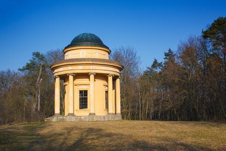Pavilion of friendship in park in Veltrusy near Prague photo