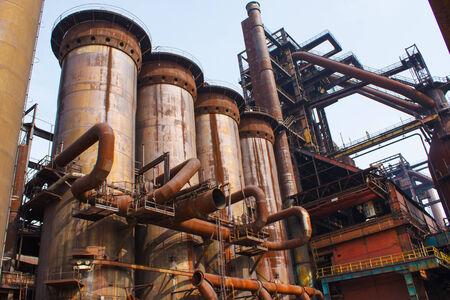industrial heritage: Old rusty steel factory in Czech republic Editorial