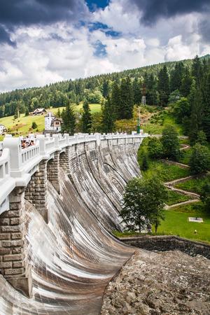 krkonose: Old nice dam in Spindleruv mlyn in Krkonose Editorial