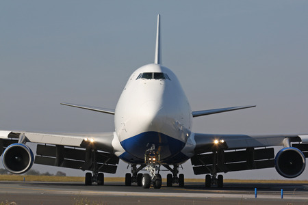 Detail of huge cargo plane Standard-Bild