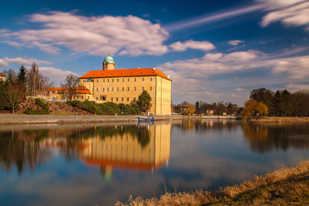 cz: Castle Podebrady near river Labe in Central Bohemia Editorial