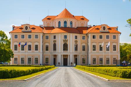 destination wedding: LIBLICE, CZECH REPUBLIC - MAY 17, 2015: Baroque Liblice castle popular wedding destination near town Melnik, Central Bohemia, Czech republic