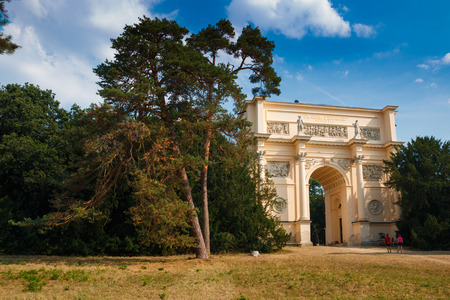 rendezvous: Diana´s Temple known as Rendez-Vous near Valtice in the Czech Republic