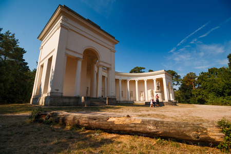 morava: LEDNICE-VALTICE, CZECH REPUBLIC - AUGUST 10: Temple of Three Graces, built between 1824 and 1825, Lednice-Valtice Cultural Landscape - Czech Republic