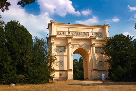 rendezvous: Diana´s Temple known as Rendez-Vous near Valtice in the Czech Republic Editorial