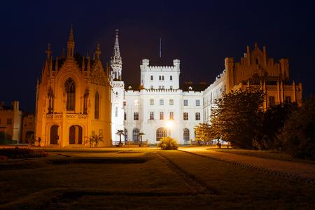 unesco world cultural heritage: LEDNICE,CZECH REPUBLIC - AUGUST 12,2015: Castle Lednice with garden park on August 13,2015 in Lednice in Czech Republic. Lednice-Valtice Cultural Landscape is registered in the Unesco World Heritage list.