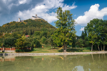 Bezdez medieval castle ruin in northern Bohemia, Czech republic