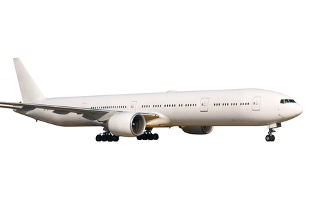 Huge twin engine plane isolated on white background Stock Photo