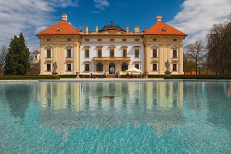Baroque chateau Slavkov u Brna in Czech Republic