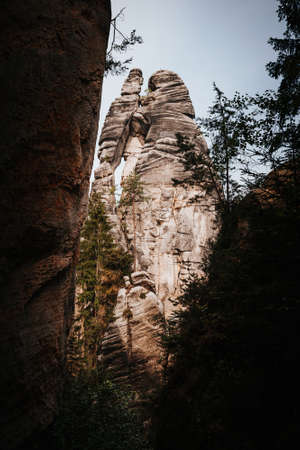 Adršpach-Teplice Rocks which are an unusual set of sandstone formations