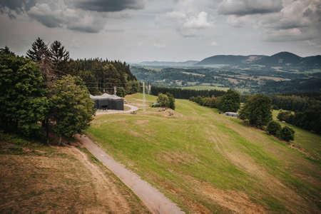 ZACLER, CZECH REPUBLIC - AUGUST 10, 2020: Stachelberg fortress near Zacler in Krkonose Mountain in Czech Republic