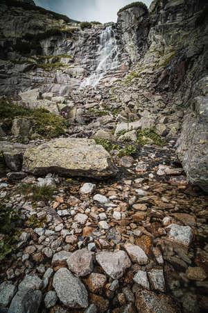 Skok waterfall on river Mlynica in High Tatras, Slovakia