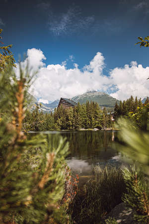 Strbske pleseo is a picturesque mountain lake of glacial origin and a top tourist destination in the High Tatras