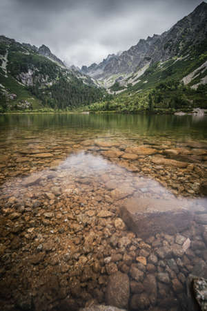 Popradské pleso (once called Rybie pleso) is a mountain lake of glacial origin located in the High Tatras, Slovakia.