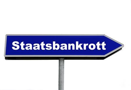 State bankruptcy Banco de Imagens