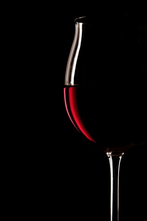 red wine glass: glass for red wine Stock Photo