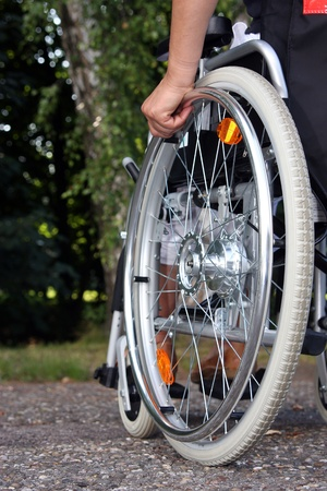 which: wheelchair Stock Photo