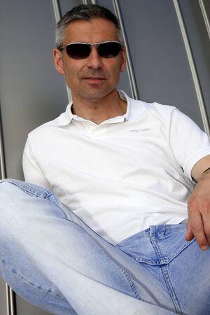 relaxes: man relaxes Stock Photo