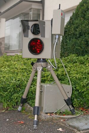 photoelectric: radar speed trap Stock Photo