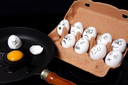 Egg in the pan Zdjęcie Seryjne