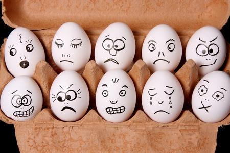 Eggs with facial