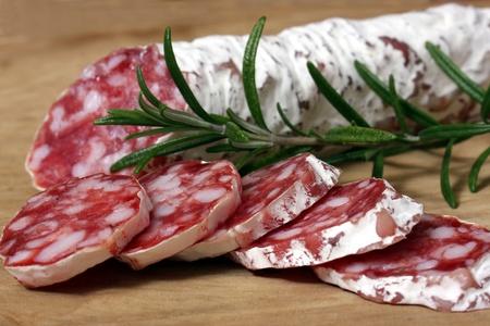 French salami Reklamní fotografie