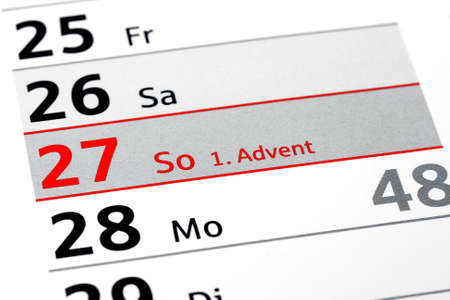 1: 1. Advent Stock Photo