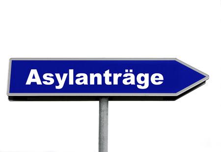 asylum: applications for asylum Stock Photo
