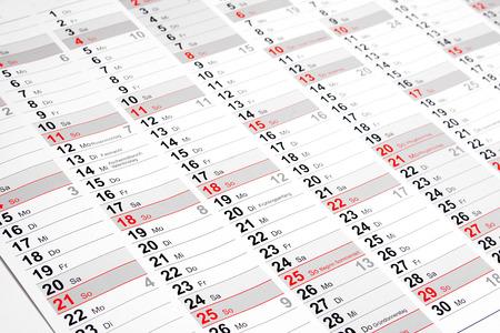 壁カレンダー