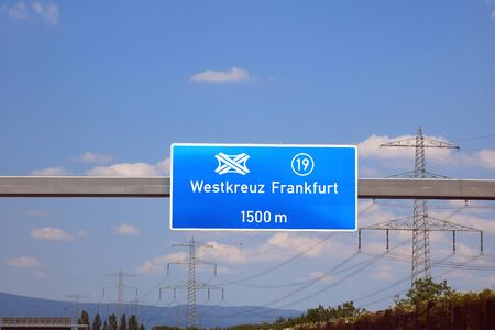 Motorway junction Frankfurt 免版税图像