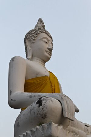 Buddha statue at wat yai chaimongkol. Thailand photo