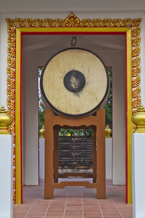 gong drum in a temple photo
