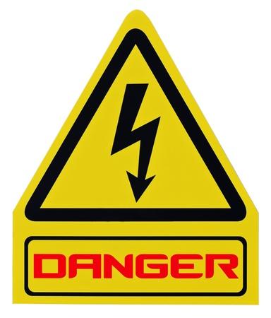 Danger warning sign isolated. Stock Photo - 12313309