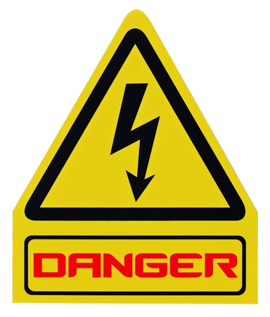 Danger warning sign isolated. Stock Photo - 12313309