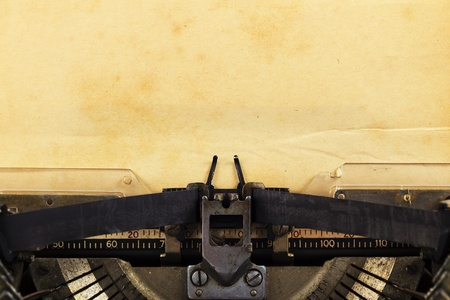 old typewriter: old typewriter with paper