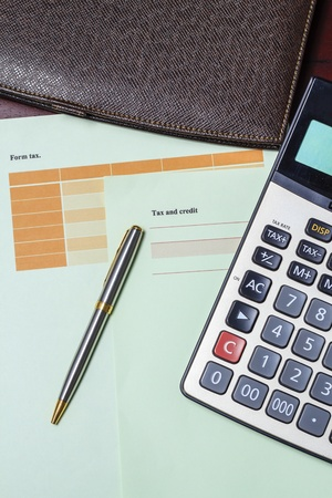 Get ready for tax calculations. Stock Photo