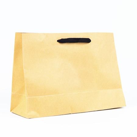 plain paper bag, brown plain paper bag. photo