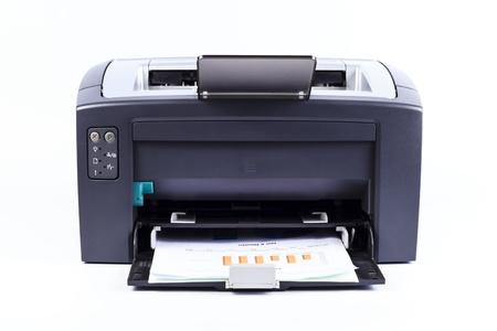 impresora: impresora aislado contra un fondo blanco