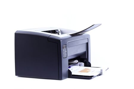 printer isolated against a white background photo