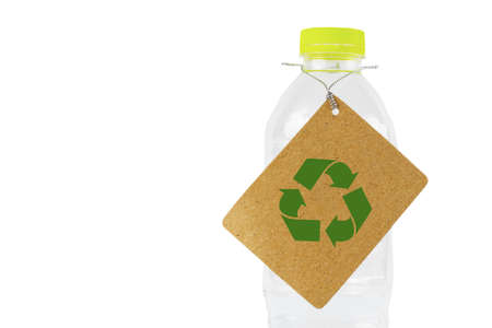 Plastic water bottle with a recycle label. Stock Photo - 13835463