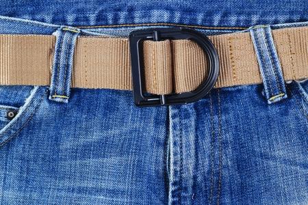 Blue jeans with Gun belt  photo
