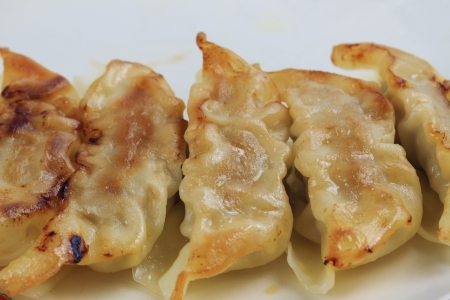 Fried dumplings. photo