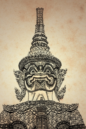 stupendous: Giant Thai background  created and designed by the photographer   Stock Photo