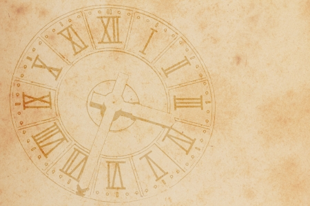 clock in grunge style background Stock Photo