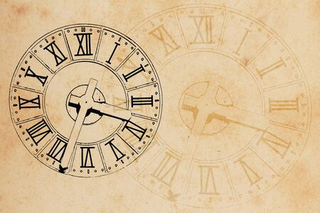 clock in grunge style background photo