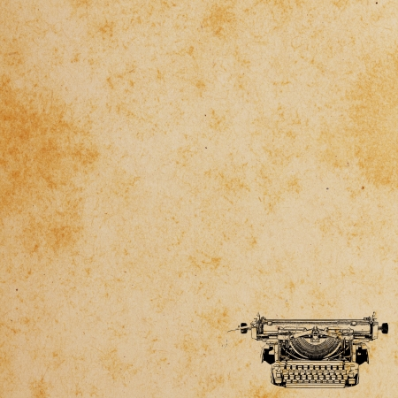Old paper with Typewriter Pattern Vintage background  Stock Photo