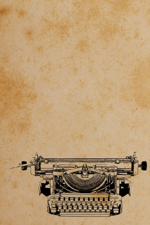 typewriting: Old paper with Typewriter Pattern Vintage background  Stock Photo
