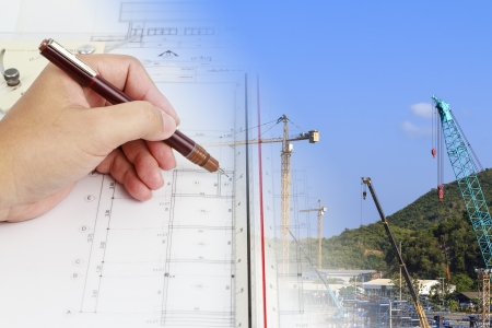 design and develop a construction plan Stock Photo
